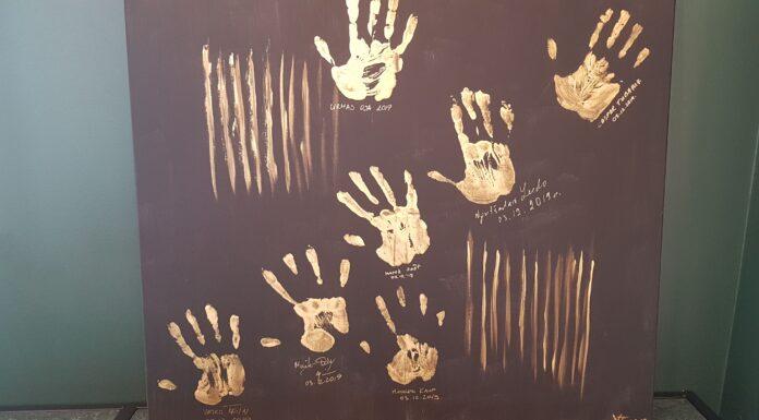 Keskuse partnerite kätejälgedest sai kunst