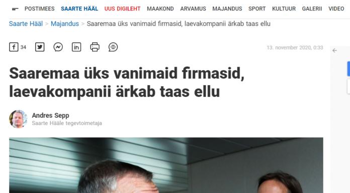 Foto: 13.11.2020 Saarte Hääl